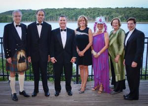 Pictured left to right: Jack Fraser, Ball Host; H.Louis Clinton, MD, Cardiologist; Jay Cahalan, CMH President & CEO; Patti Matheney, Chairman, Columbia-Greene Hospital Foundation Board of Trustees; Betsy Gramkow, Executive Director, Columbia-Greene Hospital Foundation; Nancy Kyle, Ball Host; and Louis DiGiovanni, President, CMH Medical Staff.