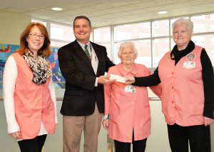 Making a $35,000 donation to CMH! Left to right are: Esther Zukowski, Jay P. Cahalan, President/CEO of CMH, Jackie Kosa, and Shirley McThenia.
